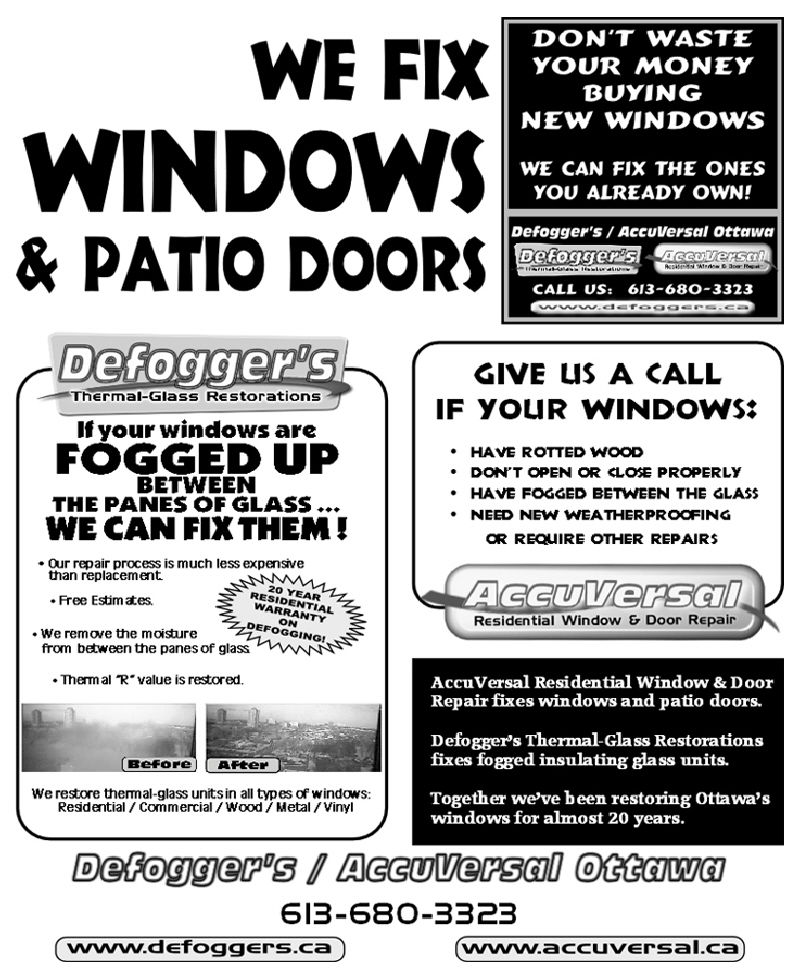 Other window repairs for Window and door replacement company